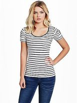 GUESS Women's Adria Short-Sleeve Striped Top