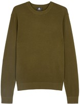 Ps By Paul Smith Olive Waffle-knit Cotton Blend Jumper
