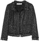 Oscar de la Renta Open-knit tweed jacket