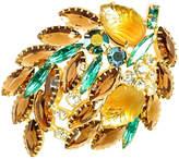 One Kings Lane Vintage Juliana Carved Lotus Glass Brooch