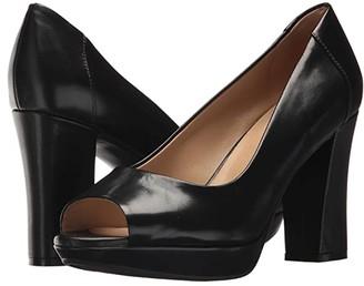 Naturalizer Amie (Black Leather) Women's Toe Open Shoes