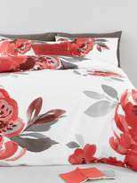 Very Catherine Lansfield Georgia Floral Cotton Rich Duvet Cover Set (Twin Pack)