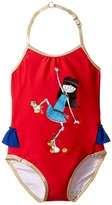 Little Marc Jacobs Miss Marc One-Piece Swimsuit Girl's Swimsuits One Piece