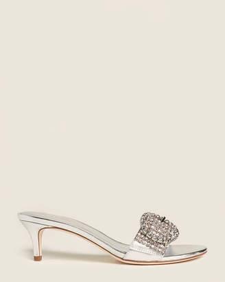 Kate Spade Silver Seville Embellished Sandals