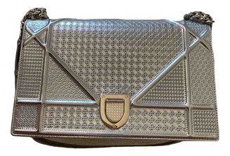 Christian Dior Diorama Silver Leather Handbags