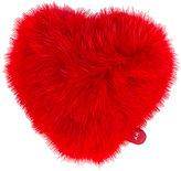 Anya Hindmarch heart sticker - women - Fox Fur/Leather - One Size