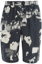 McQ by Alexander McQueen Men's Elasticated Monochrome Shorts Monochrome Floral