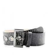 McQ by Alexander McQueen Cracked-leather waist belt