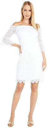 Lilly Pulitzer Lexa Dress (Resort White Scalloped Shell Lace) Women's Dress