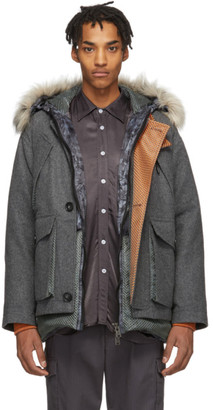 Woolrich Grey North Hollywood Edition Down Camouflage Arctic Parka