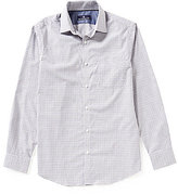 Hart Schaffner Marx Dobby Check Long-Sleeve Woven Shirt
