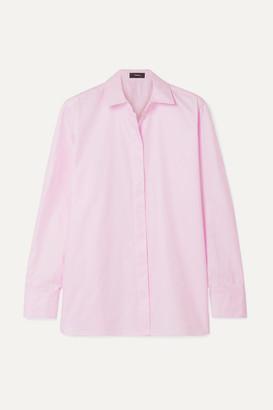 Theory Cotton-poplin Shirt - Pastel pink