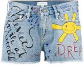 Mira Mikati doddle print denim shorts