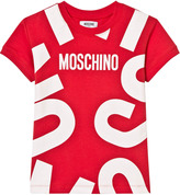 Moschino Red All Over Branded Tee Dress