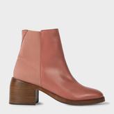 Paul Smith Women's Dusty Pink Leather 'Warren' Ankle Boots