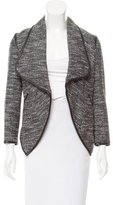 Yigal Azrouel Leather-Trimmed Tweed Jacket w/ Tags