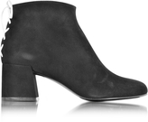 McQ by Alexander McQueen Pembury Whip Stitch Black Suede Ankle Boot