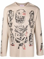 Thumbnail for your product : Charles Jeffrey Loverboy hand drawings print T-shirt