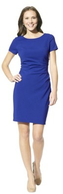 Merona Women's Boat Neck Side Waist Ruched Dress - Assorted Colors