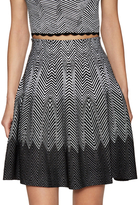 Opening Ceremony Optic Striped Flared Skirt