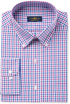 Club Room Men's Classic/Regular Fit Wrinkle Resistant Gingham Dress Shirt, Only at Macy's