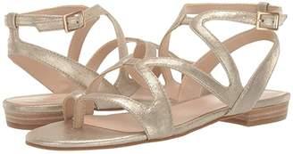 Pelle Moda Baron (Platinum Metallic Suede) Women's Sandals