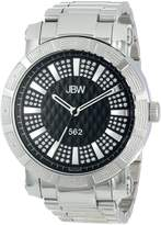 "JBW Men's JB-6225-B ""562"" Pave Dial Stainless Steel Diamond Watch"