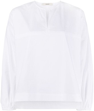 Odeeh front slit elasticated cuff shirt