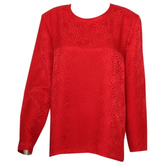 Givenchy Red Silk Top for Women Vintage