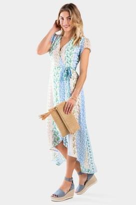 francesca's Bionca Floral Mix Wrap Dress - Multi