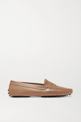 Tod's Gommino Leather Loafers - Tan