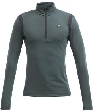 Kjus Motion Quarter-zip Thermal-jersey Midlayer Top - Green