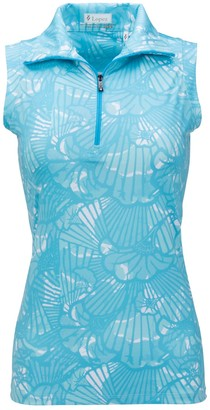 Plus Size Nancy Lopez Printed Sleeveless Polo