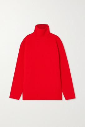 Balenciaga Oversized Ribbed-knit Turtleneck Sweater - Red