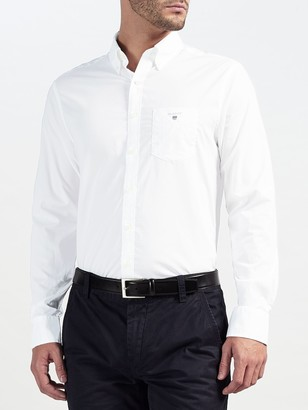 Gant Plain Broadcloth Regular Fit Shirt
