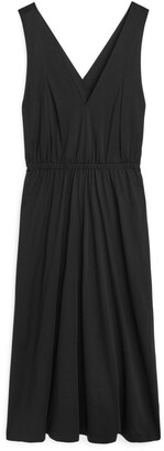 Arket Cross-Back Jersey Dress