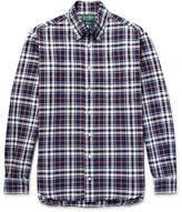 Gitman Brothers Button-Down Collar Checked Cotton Oxford Shirt