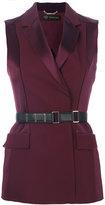 Versace belted waistcoat