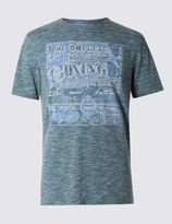 Marks and Spencer Tailored Fit Cotton Blend Boxing Printed T-Shirt