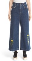 Stella McCartney Women's Nashville Studded & Embroidered Flare Crop Jeans