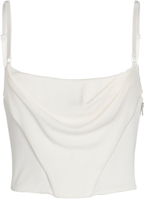 Alexander Wang Draped Corset Tank Top