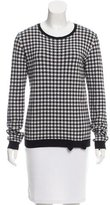 RED Valentino Bow-Accented Gingham Sweater