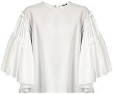 MSGM Seersucker cotton-blend top