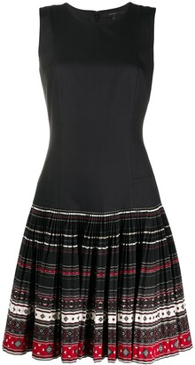 Gucci Pre Owned Pleated Skirt Sleeveless Dress