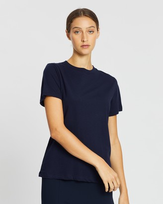 Jac + Jack Women's Blue Basic T-Shirts - Verte Tee - Size XS at The Iconic
