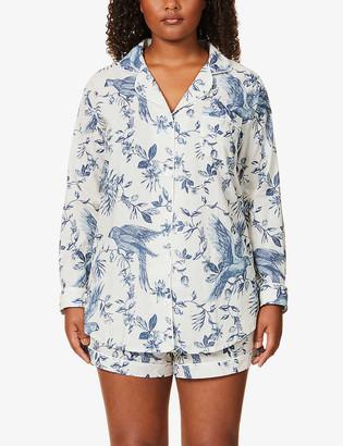 Desmond & Dempsey Bromley Parrot printed organic cotton pyjama set