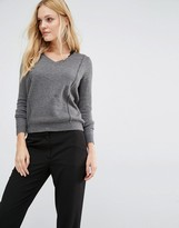 Y.A.S Zelena Cutwork Sweater With V-Neck