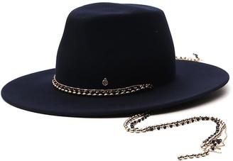 Maison Michel Chain-Embellished Fedora Hat