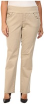 Jag Jeans Plus Size Peri Pull On Straight Jeans in British Khaki