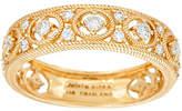 Judith Ripka 14K Gold 1/4 cttw Diamond Band Ring